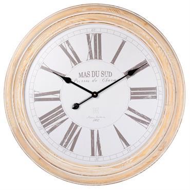 Horloge en pin et hêtre D68