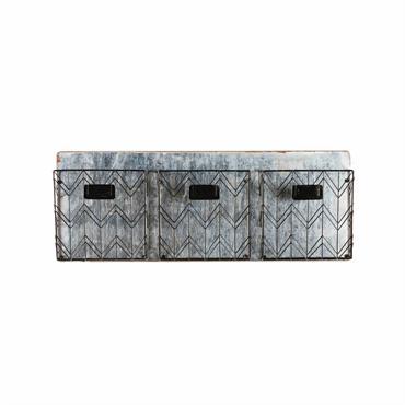 UN CHARME BRUTChassez le désordre et faites place à l'organisation grâce au rangement mural 3 compartiments en métal noir JOY, design et minimaliste.UN STYLE INDUSTRIELAvec son allure graphique et son ...
