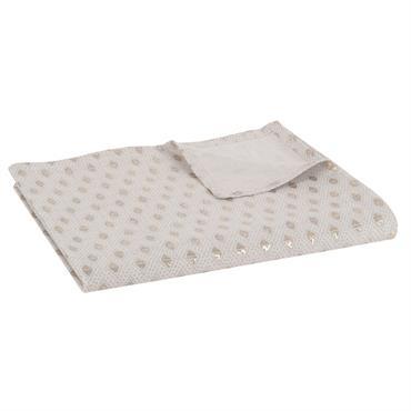 Nappe en coton à motifs argentés 150x250