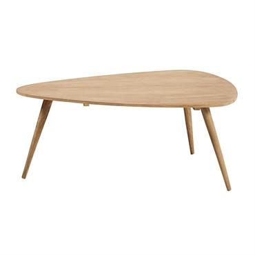 Table basse vintage en manguier massif 120x85 Trocadero
