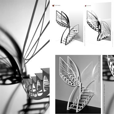 Toujours inspiré du courant Art Nouveau, le designer, Jean Luc Chevallier, reprend les formes de la nature pour les retranscrire ... Domozoom