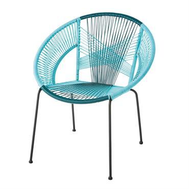 Plongez dans un océan de détente, en vous installant confortablement sur le fauteuil rond en fil de résine bleu KO SAMUI . Un jour dans votre salon, le lendemain sur ...