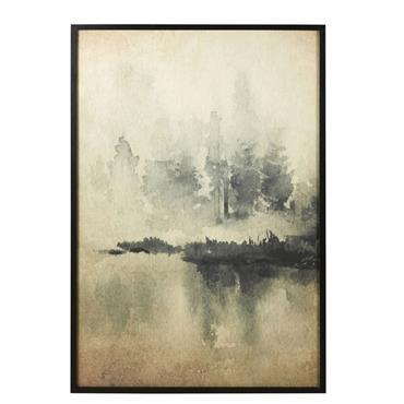 Déco murale en papier de riz imprimé paysage 90x130