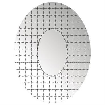 Miroir autocollant Grid / 49 x 37 cm - Domestic