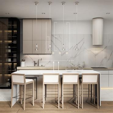 L'architecture d'intérieure de l'appartement à Kiev.  Surface totale: 181 m² L'année du projet: 2016  Domozoom