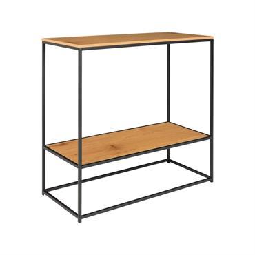 Console minimaliste en bois et métal 80x80cm GIVAUDE