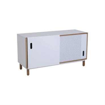Petit meuble TV 120cm style scandinave