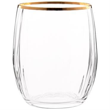 Gobelet en verre et fil doré