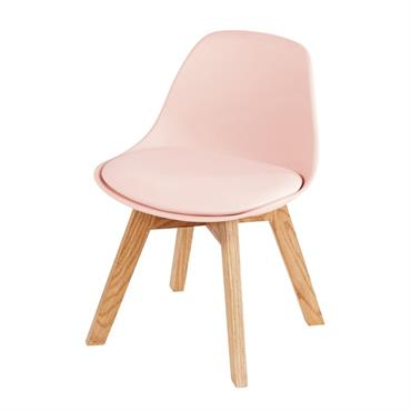 Chaise style scandinave enfant rose et chêne Ice