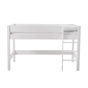 Lit mezzanine enfant 90x190 blanc Tonic