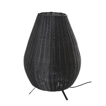 Lampe d'extérieur tressée noire H60