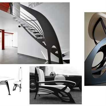 Dans cette collection, le designer, Jean Luc Chevallier, s'est inspiré des lignes et courbes fouettées du célèbre courant Art Nouveau, ... Domozoom