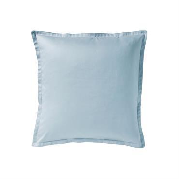 Taie d'oreiller en satin de coton bleu 65x65