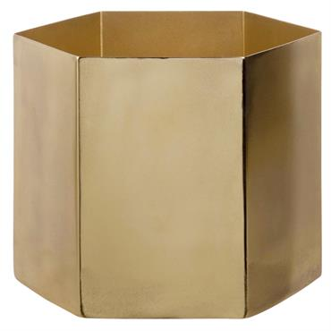 Cache-pot en métal doré H17