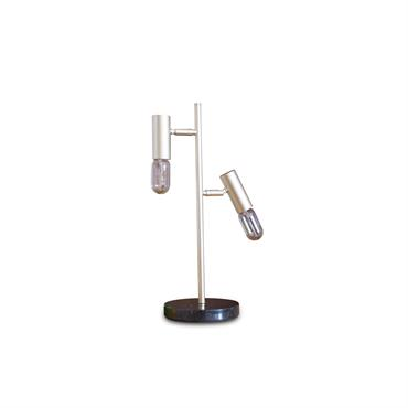 Lampe de table rétro en métal doré