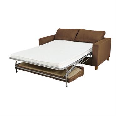 Canapé-lit 3 places en velours côtelé marron Holden