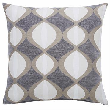 Coussin gris motifs bicolores 45x45cm TWIGGY