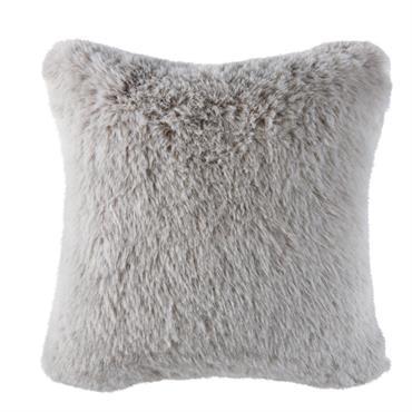 Le coussin imitation fourrure grise 45x45 MAOKE est aussi doux qu'il en a l'air ! Coup de coeur pour sa housse recouverte d'une imitation de fourrure à poils longs, pour ...