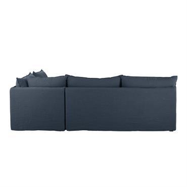Angle de canapé en lin bleu nuit Pompei