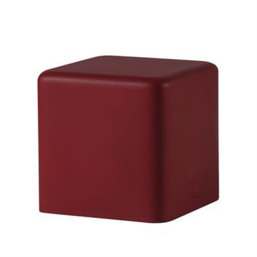 Pouf Soft Cubo /43 x 43 cm - Mousse - Slide rouge