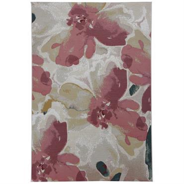 Tapis moderne intérieur et extérieur rose 70x120