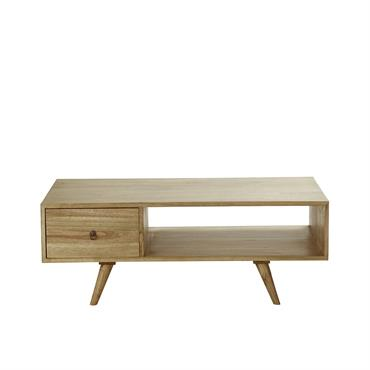Table basse scandinave 1 tiroir en mindy