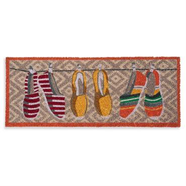 Paillasson coloré motifs espadrilles 75x30