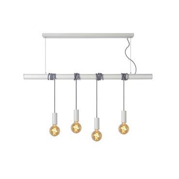 Suspension barre 4 lumières en métal L120cm