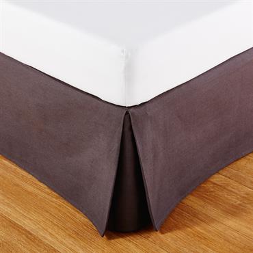 Cache-sommier 160x200 en coton gris anthracite