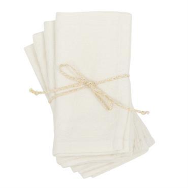 Serviettes en coton beige à motifs 40x40