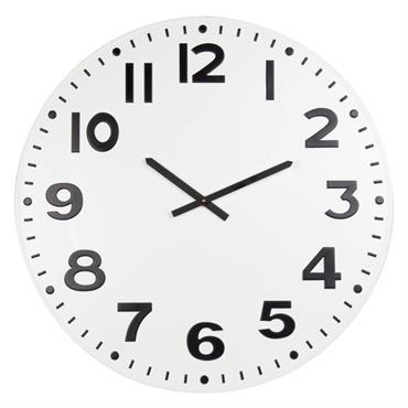 Horloge en métal blanc et noir D78