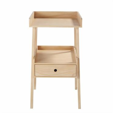 Table à langer 1 étagère 1 tiroir en pin Sasha