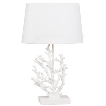 Lampe corail blanche