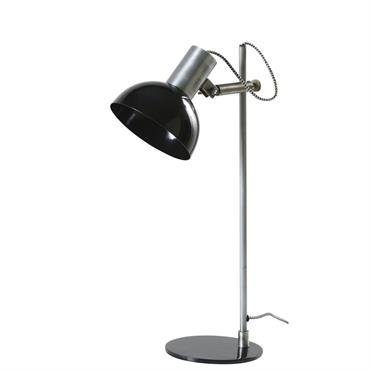 Lampe de bureau orientable en métal noir