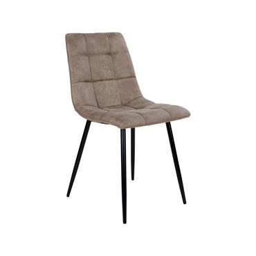 Chaise design en tissu pieds métal Taupe