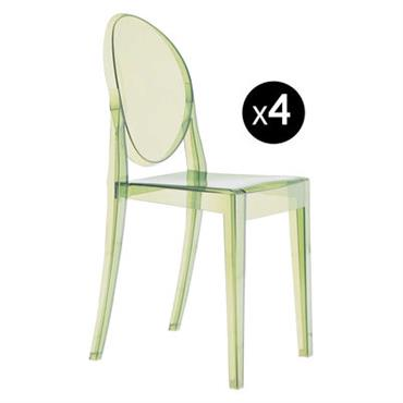 Chaise empilable Victoria Ghost / Lot de 4 - Kartell