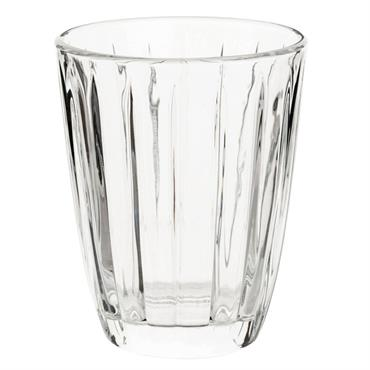 Gobelet strié en verre