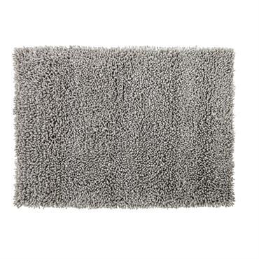Tapis en laine et coton gris effet shaggy 160x230