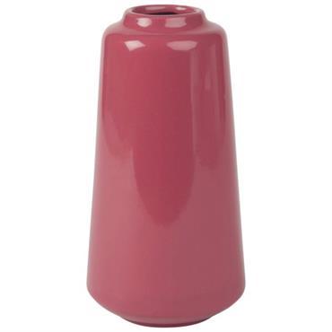 Vase en céramique rose framboise H22
