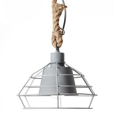 Suspension en métal gris