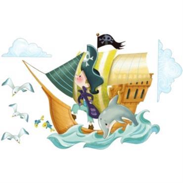 Sticker enfant Bateau de Pirates