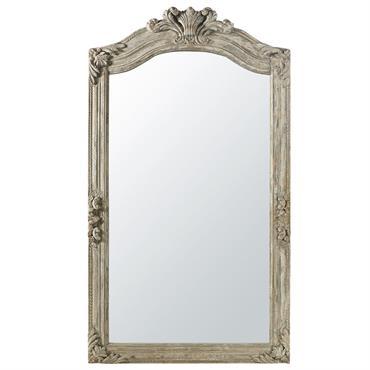 Miroir à moulures en manguier gris 123x220