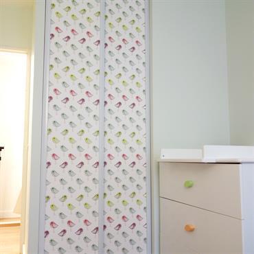 Chambre pour petites filles, rénovation et ameublement, réalisée par Nuance d'Intérieur