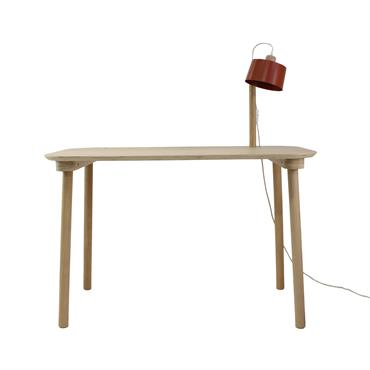 Le BUREAU & LAMPE by Camille est un petit bureau design et éco-responsable avec une lampe intégrée pour éclairer vos réflexions. Lampe avec abat-jour orientable. Ce bureau en bois et ...