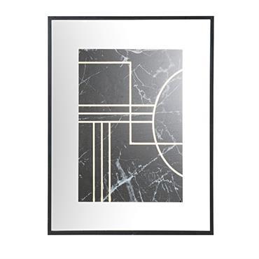 Votre mur mérite ce qu'il y a de plus chic ! Alors découvrez le tableau miroir imprimé marbre noir CLIFF , élégant et dans l'air du temps. L'encadrement noir met ...
