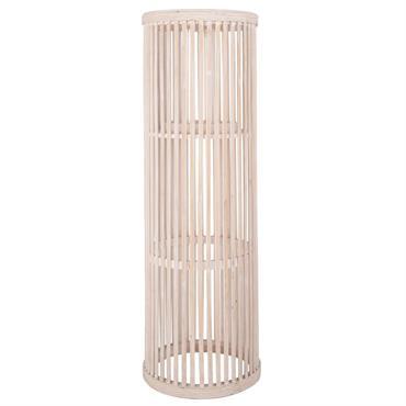 Lanterne en bambou et verre H58