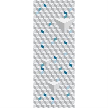 Papier peint lé unique Cubic