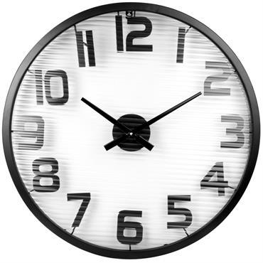 Horloge en métal noir D60
