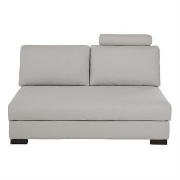 Têtière de canapé en coton gris clair Terence