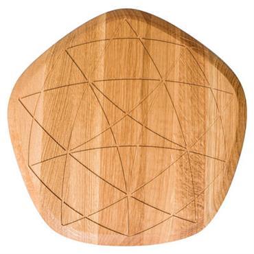 Planche à découper Étoile / Chêne - Petite Friture chêne naturel en bois